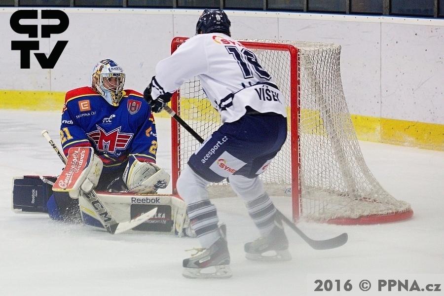 Hokej WSM Liga. HC Benátky nad Jizerou - ČEZ Motor České Budějovice / 4:1 (1:0, 1:0, 2:1) Benátky nad Jizerou, 09.01. 2016, autor: Zdeněk Langšádl / PPNA.cz